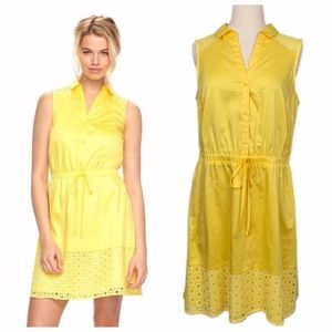 ELLE Shirtdress Goldfinch Yellow Eyelet Lace Party